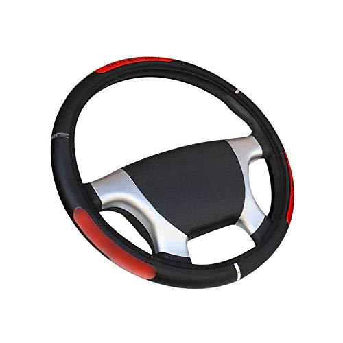 NASHDZ Car Steering Wheel Cover Dragon Pattern Artificial Leather Reflective Elastic Elastic Handlebar Cover,Fit for Universal 36-50CM