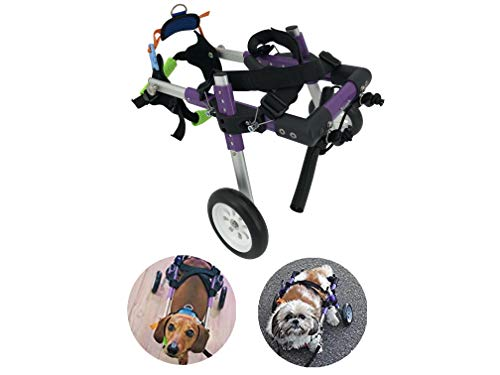 U/D HeoBam Dog Wheelchair - for Small Dog/Cat-Adjustable Dog Wheelchair for Hind Legs Rehabilitation (XS)