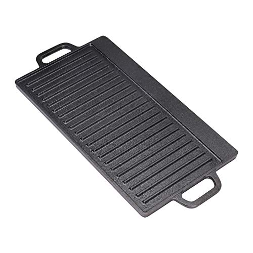 Griddle Pan, Cast Iron Griddle Pan, Reversible Grill Plate, Non Stick...