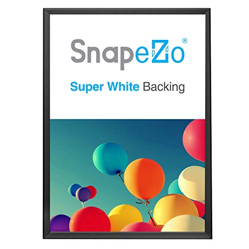 SnapeZo Movie Poster Frame 27x39, Black, 1.25 Inch Aluminum Profile, Front-Loading Snap Frame, Wall Mounting, Professional Series