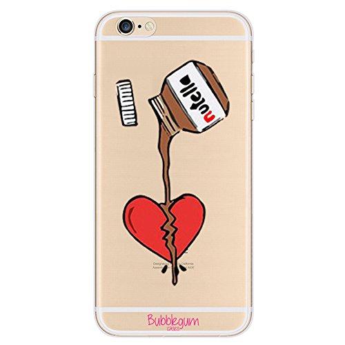 Carcasa para iPhone, diseño de alimentos, material de TPU y gel, de la marca Bubblegum., Chocolate Heart, iPhone 6 6s