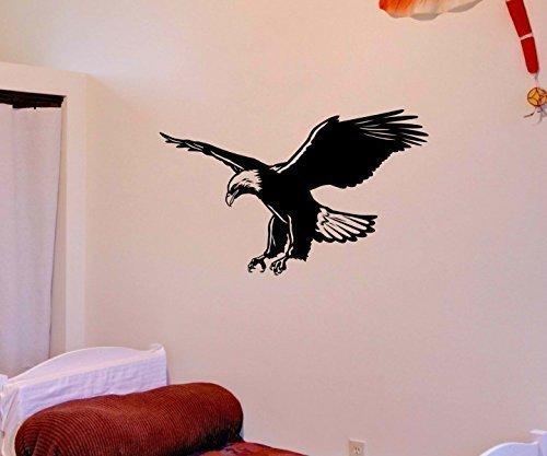 Wandtattoo Indianer Adler Vogel Western Indien Aufkleber Wandaufkleber Autoaufkleber Turaufkleber WC Tur Bad Auto 5A036, Farbe:Schwarz Matt, Breite vom Motiv:40cm