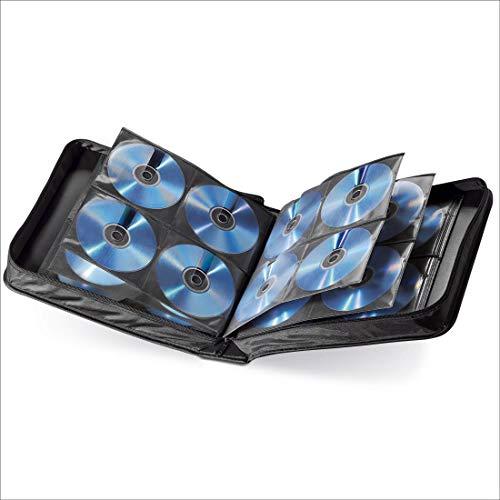 Hama CD Tasche für 160 Discs / CD / DVD / Blu-ray (Mappe zur Aufbewahrung , platzsparend für Büro, Wohnzimmer & Zuhause, Transport-Hüllen) Schwarz
