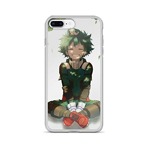 Beamm-Frost Compatible with iPhone 7 Plus/8 Plus Case Izuku Deku Smile My Hero Academia Japanese Anime Pure Clear Phone Cases Cover