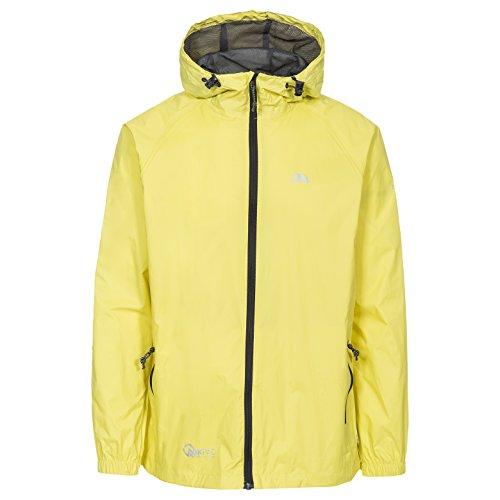 Trespass Unisex Erwachsene Qikpac Jacket Kompakt Zusammenrollbare Wasserdichte Regenjacke, Gelb (Yellow), L