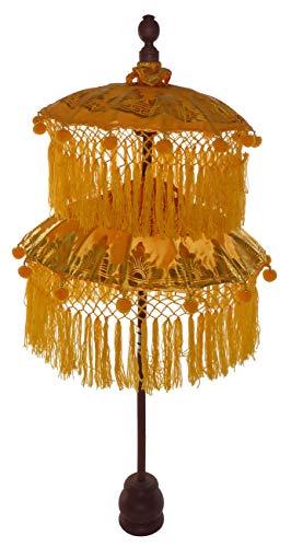 Deko-Schirm, Tempelschirm aus Bali, gelb, 114cm