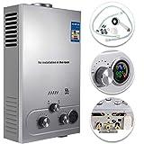 VEVOR Scaldabagno A Gas Liquefatto Scaldabagno A Gas LPG Con Digitale LCD Scaldabagno Automatico E Rapidamente (12L)