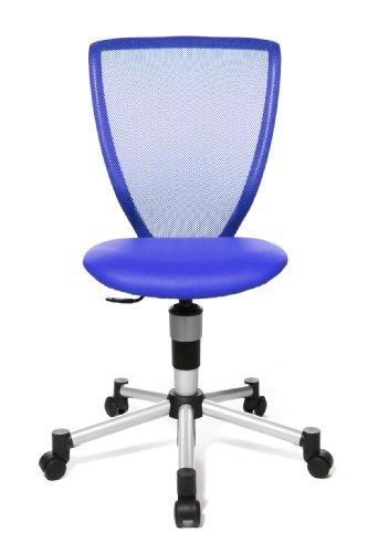 Topstar 71487S18 Titan Junior, Schreibtischstuhl, Kinderdrehstuhl, Jugenddrehstuhl, Netzrückenlehne und Bezugsstoff blau