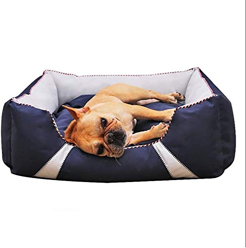 UIZSDIUZ Haustierbett Hundebett Large Padded In Blue waschbare Bezüge Katzenbett (Size : XL(120×80×29cm))