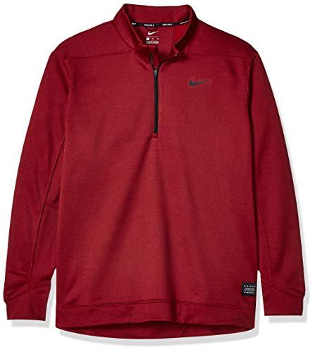 NIKE Men's Therma Top Half Zip Golf Sweater, Night Maroon/Black, X-Large