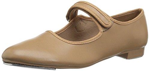Dance Class Girls' Molly Jane Tap Shoe Mary Flat, Caramel, 1 M US Little Kid