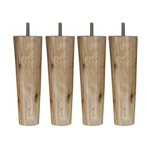4 Stück Möbelfüße Sockelfüße Tischfüße Möbel füße aus Holz, Größe Auswählbar - Natürliche, 4.5 * 6.5 * 20cm