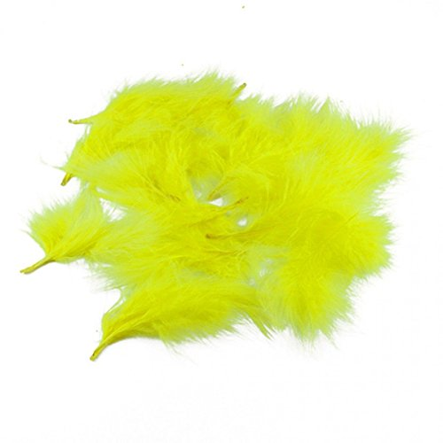 efco Plumas de marabú (80 – 100 mm, 22 Unidades), Color Amarillo
