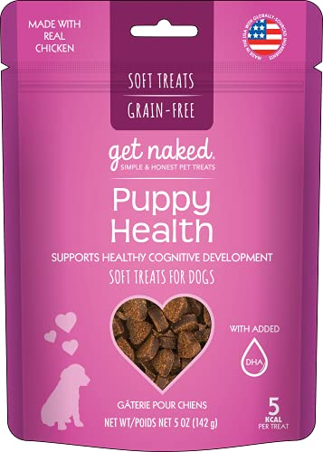 Get Naked 1 Pouch Puppy Health Soft Dog Treats, 5 Oz, Brown (201578)
