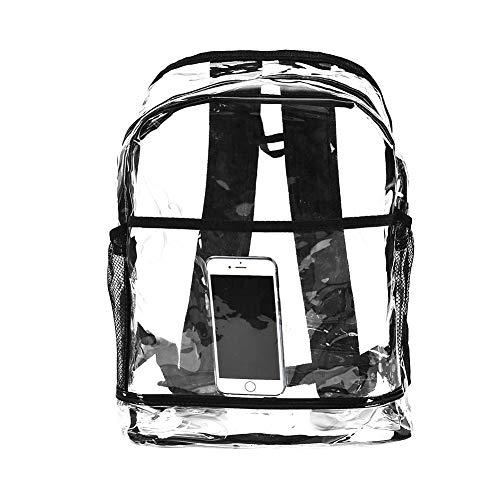 Xiton 1 Pc Klar Rucksack Transparent PVC Rucksack Schultasche Arbeitstasche Easy-Stadion Security Check Tasche Daypack (Transparent)