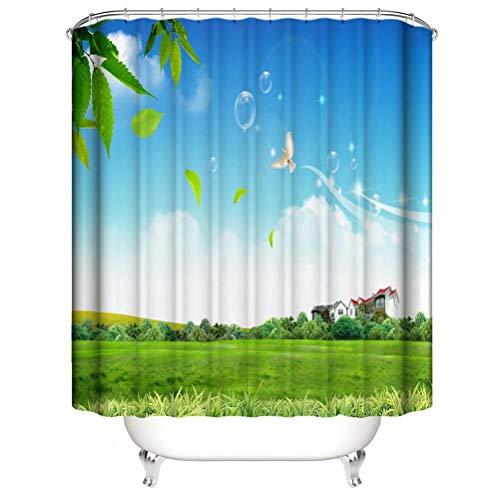 ZZZdz Fliegende Tauben. Haus Dekoration. Duschvorhang: 180X180 cm. 3D Hd Druck. Wasserdicht. Einfach Zu Säubern. Badezimmerzubehör.