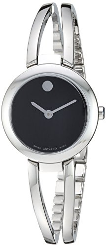 Movado Women's Amorosa Duo Swiss-Quartz Watch with Stainless-Steel Strap, Silver, 11.6 (Model: 0607131)