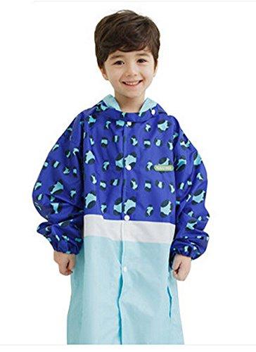 Korean Lovely bébé imperméable Mode enfants pluie Bleu Imprimé léopard S