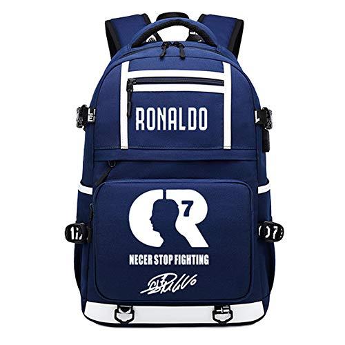 Giocatore di Calcio Stella Ronaldo Zaino Luminoso Multifunzione CR7 Zaino da Viaggio per Studenti Zaino da Tifoso per Club di Calcio (Stile 6)