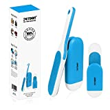 PETDOM Pet Hair Remover Brush - Integrated Sturdy Handle with Self-cleaning Base