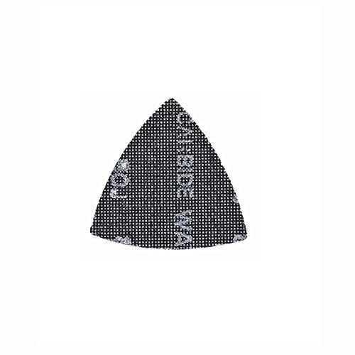Dewalt Schleifgitter Extreme (80er Körnung, 93 x 93 mm, mit Klettfix, für den Einsatz auf Dreieckschleifern und Dewalt Multitool, 5 Stück) DTM3092