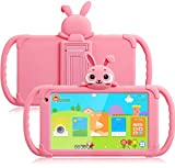 Kids Tablet 7 inch Toddler Tablet Android Tablet for Kids 16GB 4000Mah Parent Control with Pre-Installed Educational APP WiFi Kids Edition Learning Tablet Kid-Proof Case (Pink)