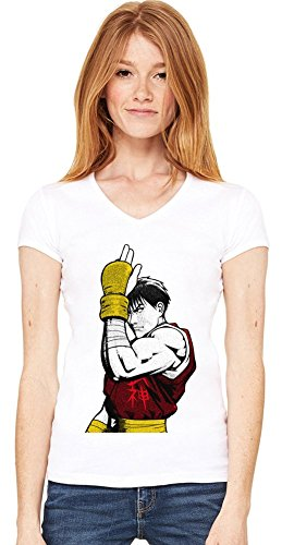 Graphic Guy Illustration T-shirt col V de la femme Small