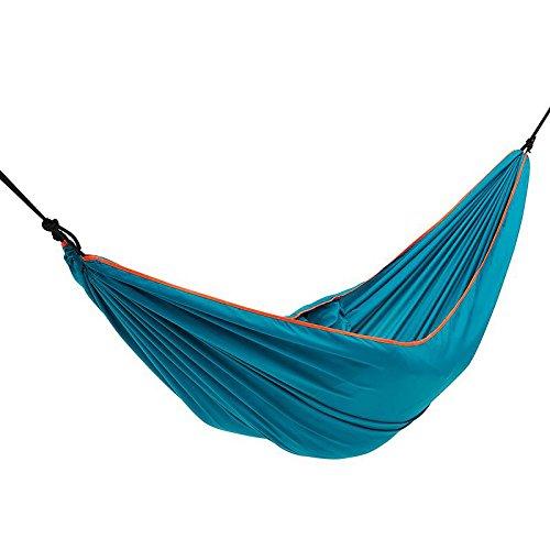 Ppy778 Outdoor Hängematte, Erwachsene und Kinder leicht zu tragen, Überrollschutz, leicht zu zerlegen, 260 * 152cm (Color : Green)