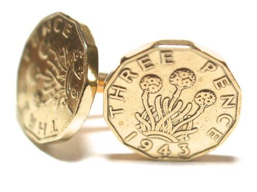 1943 Original 3d Boutons de manchette anniversaire/anniversaire de mariage Idéal pour anniversaire d'75th