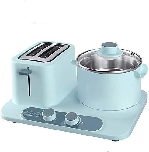 Whss huevo caldera eléctrica Máquina de desayuno eléctrica, tostadora de pan, horno para hornear, mini olla multifunción, hornear sándwich hornear huevos caldera vapor de alimentos tortilla sartén, az