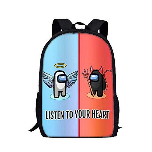 Game Among Us Backpack, Imposter Student Birthday Gift Teenagers School Bag Travel Rucksack