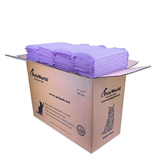 PETSWORLD Cat Pad Refills for Tidy Cats Breeze Litter System (200 Pads)