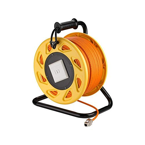 Goobay 58934 Mobile RJ45 Netzwerk Kabeltrommel, 50m orange