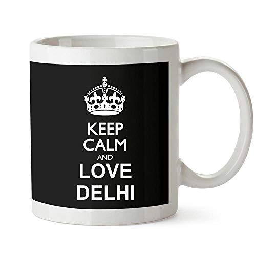 Idakoos Keep calm and love Delhi Taza cerámica 11 onzas