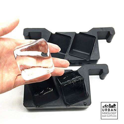 Premium Crystal Clear Eiswürfelbereiter für den Heim-Barkeeper. Machen Sie 2 perfekt klare, langsam schmelzende 4,8 cm Eiswürfel für Ihre Cocktails und Whiskeys!