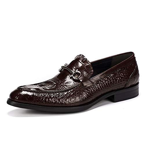 RSHENG Herren Horsebit Loafers Business Schuhe Dress Gentleman Schuhe Driving Schuhe Wanderschuhe für Treffen heiraten-red-38EU