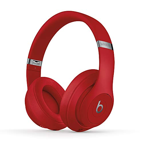 BeatsStudio3Wirelessワイヤレスノイズキャンセリングヘッドホン-AppleW1ヘッドフォンチップ、Class1Bluetooth、アクティブノイズキャンセリング機能、最長22時間の再生時間-レッド