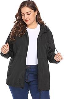 IN'VOLAND Women's Plus Size Raincoat Rain Jacket...