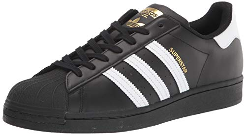 adidas Originals Superstar Foundation Herren Sneakers, B27140, Schwarz (Core Black/Ftwr White/Core Black), EU 42