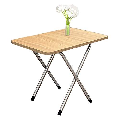 Mesa plegable, mesa de comedor portátil para el hogar, mesa de café cuadrada, escritorio, mesa de estudio, para el hogar, dormitorio, al aire libre, 5 colores (color: B)