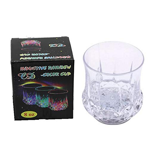 Taza de inducción de piña resplandeciente, destello colorido, agua para verter, vajilla de copa de vino brillante