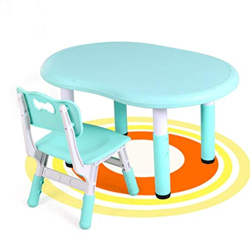 qazxsw Coffee Tables Kids Study Table Children's Multi-function Game Desk Chair Liftable Home Toy Table Safety and Health Protection Furniture Tables