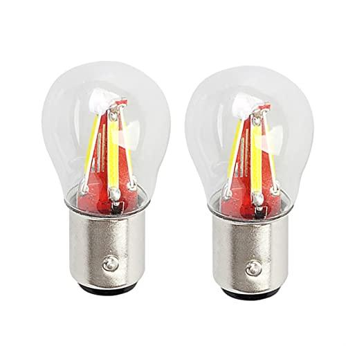 2 unids de la luz del Freno del automóvil BULMENT 4 FILAMENTO Super SUPERO LED 1157 BAY15D P21W / 5W B Lámpara de vehículo automático Amarillo/Rojo/Blanco Accesorios de Coche 12V