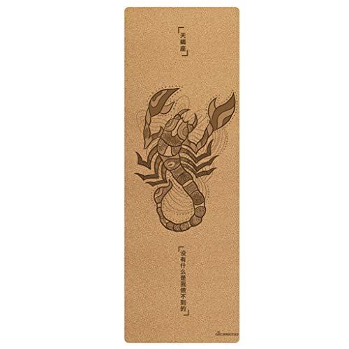 XINGDONG 12 esterillas de yoga de corcho para el hogar y la mujer, antideslizante, fácil de almacenar (color: escorpio, tamaño: 5 mm)