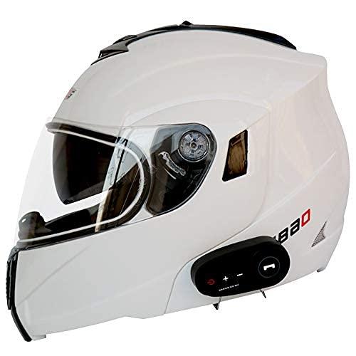 LNSOO Casco abatible Delantero para Motocicleta, Casco Bluetooth, Cascos de Motocross, Casco Modular para Motocicleta, Casco Integral para Motocicleta, Casco Modular para Motocicleta, Aprobado por