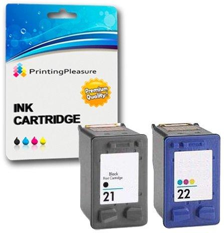 Printing Pleasure 2 XL Compatibles HP 21XL & HP 22XL Cartuchos de Tinta para...