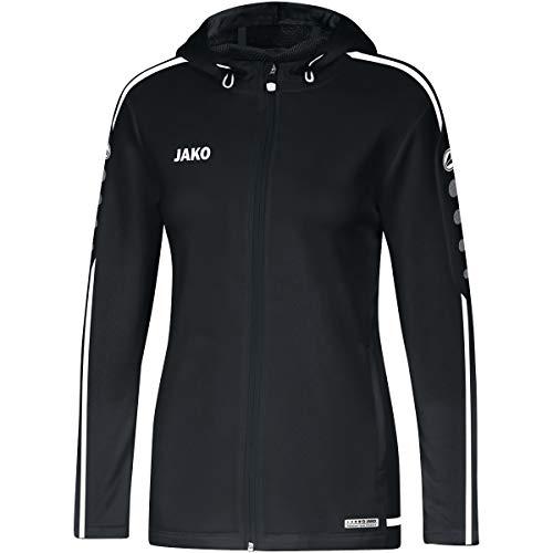 JAKO Damen Striker 2.0 Kapuzenjacke, schwarz/Weiß, 38