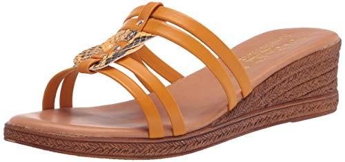 Tuscany Women's Wedge Sandal, Yellow Snake, 10