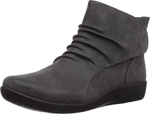 CLARKS Women\'s Sillian Sway Ankle Bootie, Grey, 6 M US