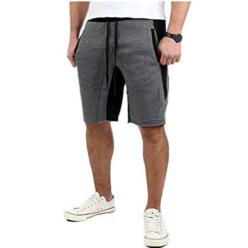 LIXIAOLAN Laufhose Fünf-Punkte-Hosen Herren-Baumwolle kurzen Sommer Knie Shorts halblangen Hosen Breathable beiläufige Kurze Hosen,e,XXL